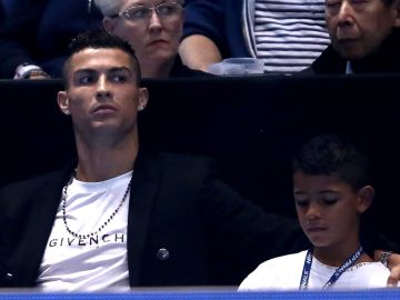 Cristiano Ronaldo, his son Cristiano Ronaldo Jr. | Julian Finney / Getty Images