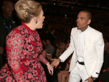 Adele y Chris Brown | Getty Images
