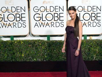 Katie Holmes en una edición de los Golden Globe Awards