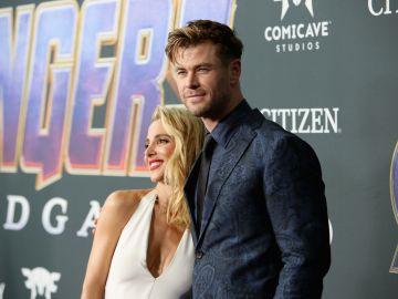 Chris Hemsworth y su esposa Elsa Pataky   Getty Images