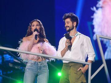 Camilo y Evaluna Montaner durante los Spotify Awards en México | Getty Images