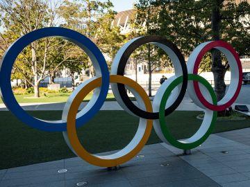 Aros Olímpicos del Museo Olímpico de Tokyo   PHILIP FONG / AFP via Getty Images