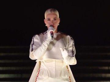 Katy Perry cantando durante la noche de inauguración presidencial de Biden-Harris   Getty Images