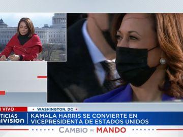 Ilia Calderón y Kamala Harris