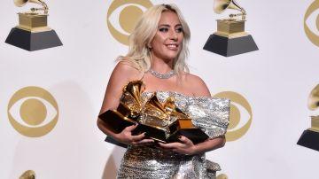 Lady Gaga en la alfombra de los premios Grammy   61 en Los Angeles, California   Getty Images