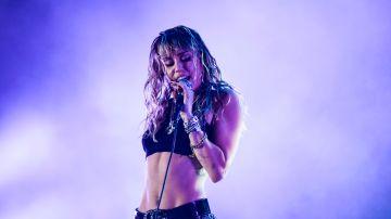 Miley Cyrus en concierto   Getty Images