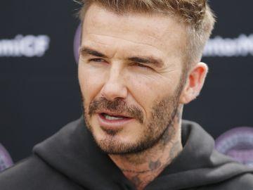 David Beckham en conferencia sobre su equipo el Inter Miami CF' en Miami | Getty Images, Michael Reaves