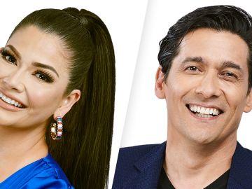 Ana Patricia Gámez y Rafael Araneda, los presentadores de 'Enamorándonos'