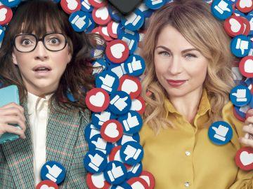 Regina Blandón y Ludwika Paleta en 'Guerra de Likes'
