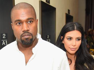 Kanye West y Kim Kardashian en la fiesta de Rihanna en New York  | Getty Images, Michael Loccisano