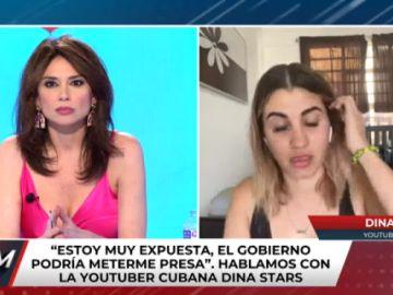 Youtuber Dina Stars fue detenida por la policía de Cuba | Captura de pantalla