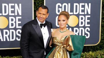JLO y Alex Rodríguez en los Golden Globe Awards | Mezcalent