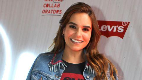 Tania Rincón en el desfile de Levis | Mezcalent