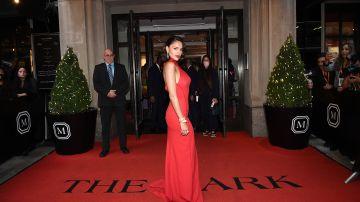 NEW YORK, NEW YORK - SEPTEMBER 13: Eiza Gonzalez departs The Mark Hotel for the 2021 Met Gala on September 13, 2021 in New York City. (Photo by Ilya S. Savenok/Getty Images)